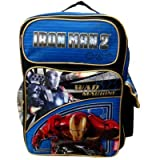 Marvel Iron Man 2 War Machine BackPack; Offically Licensed Ironman School Back Pack Bag, Great Gift Idea