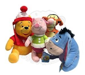 Disney Winnie the Pooh Winter Season Sega Prize Collection 4 Plush Animal Set