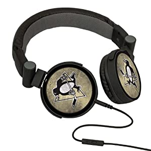 NHL Pittsburgh Penguins Washed Logo Headphones by Pangea Brands
