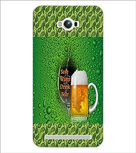 PrintDhaba Beer Mug D-4581 Back Case Cover for ASUS ZENFONE MAX ZC550KL (Multi-Coloured)