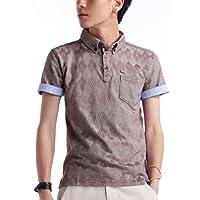 (ベストマート)BestMart ポロシャツ 半袖 半そで アーガイル柄 ボタンダウン 607388