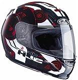 HJC エイチジェーシー CL-Y Simitic Helmet 2017モデル 子供・女性用 ヘルメット ブラック/ホワイト/レッド M(53~54cm)