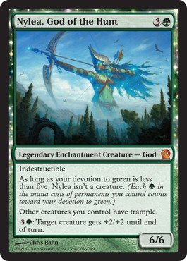 Magic: the Gathering - Nylea, God of the Hunt (166/249) - Theros