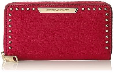 Rebecca Minkoff Luma Large Zip Wallet,Fuchsia,One Size