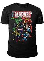 Marvel Comics - The Avengers Herren T-Shirt - Team (Schwarz) (S-XL)