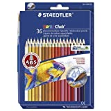 STAEDTLER ノリスクラブ 水彩色鉛筆 36色セット 144 10ND36