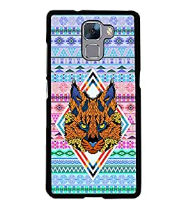 PRINTVISA Abstract Tiger Case Cover for Huawei Honor 7