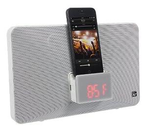 Kitsound Fresh Radio réveil avec Station d'accueil pour iPod Nano 7, iPod Touch 5, iPhone 5, 5C, 5S - Blanc - Livré avec Prise Française