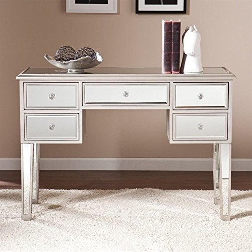 Southern Enterprises Mirage Mirrored Console Table in Silver (Mirrored Furniture Console compare prices)