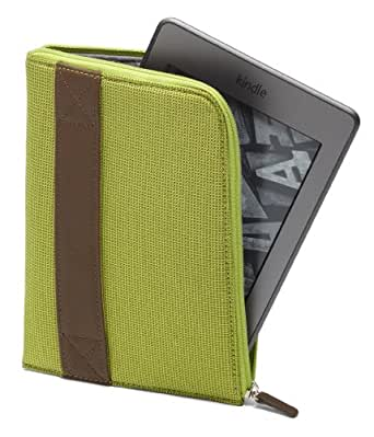 Custodia Amazon con zip per Kindle, colore: Giallo limetta (adatta per Kindle Paperwhite, Kindle e Kindle Touch)