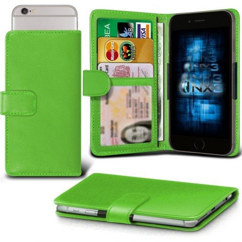 Samsung Galaxy J1 Ace Adjustable Spring Wallet ID Card Holder Case Cover (Green) Plus Free Gift, Screen Protector and a Stylus Pen, Order Now Best Valued Phone Case on Amazon! By FinestPhoneCases (Samsung Ace 2x compare prices)