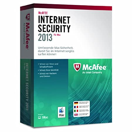 McAfee Internet Security 2013 MAC - 1 User (MAC)