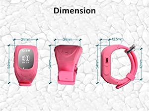 Glzee Real GPS Tracker Kids Smartwatch Wrist Watch Anti-lost SOS Remote Monitor Mobile Phone Alarm Mini Child Bracelet for Children Safety, Compatible with IOS Android Smartphone