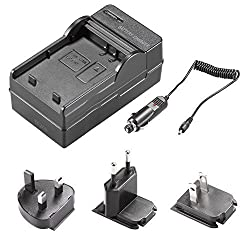 Neewer 4 In 1 Battery Charger Kit with US/EU/UK Plug/ Car Adapter for Canon LP-E10 Battery Works Canon EOS 1100D 1200D Rebel T3 T5 Camera