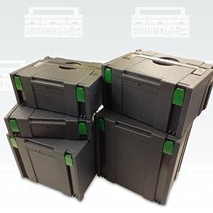 Tanos Festool BTI Hitachi Systainer Classic Gr1 2xGr2 Gr4+5 anthrazit 5er Set + BAHCOMesser gratis  BaumarktÜberprüfung und weitere Informationen