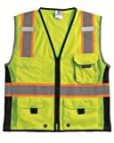 ML Kishigo 1513 Ultra-Cool Polyester Black Series Heavy Duty Vest, Large, Lime