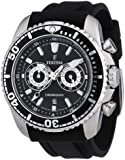 Festina Men's F16574/4 Black Polyurethane Quartz Watch with Black Dial