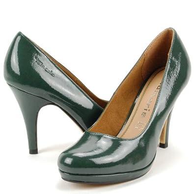 tamaris damen high heels pumps plateau decksohle leder. Black Bedroom Furniture Sets. Home Design Ideas