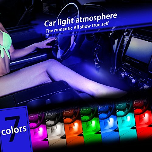 Thunder® 12V 4*3 LED Car Interior Decorative Atmosphere