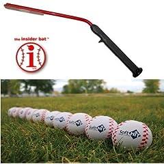 Baseball Training Bat Package Insider Bat & 12 Soft Hit Baseballs by Best Sports Direct
