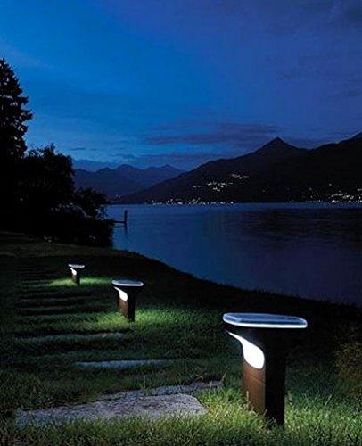 Sky Led Outdoor Lamp - 220 - 240V (For Use In Australia, Europe, Hong Kong Etc.), Small, Aluminum