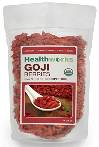 Healthworks Goji Berries Raw Organic, 1lb (Organic Goji Juice compare prices)