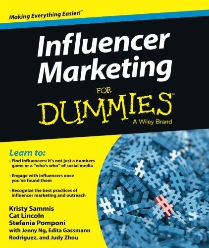 Influencer Marketing For Dummies [Sammis, Kristy - Lincoln, Cat - Pomponi, Stefania] (Tapa Blanda)