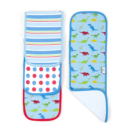 Tadpoles 4 Piece Burp Cloth Set, Dinosaur - 1