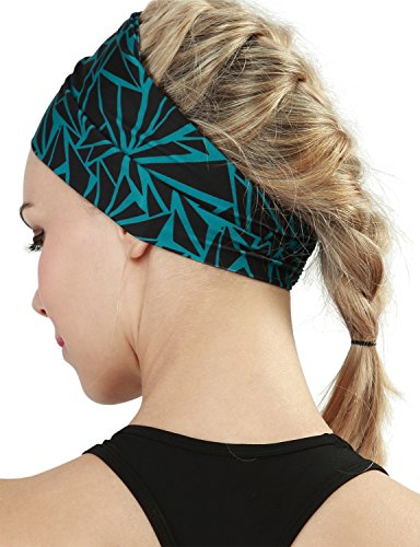 Yoga Reflex Unisex Elastic Yoga Running Sports Fashion Head Wrap Hair Bands , Seamlesgeodarkgreen