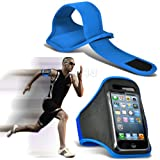 Baby Blue iPhone 5-5s-5c Running Armband Case Cover Holder for Cycling, Jogging, Fitness Training, Boot Camp, Exercise, Sports, Outdoor Activities, Gym Cases Covers and Accessories for New Apple iPhone 5-5s-5c by iChoose®