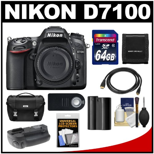 Nikon D7100 Digital SLR Camera Body with 64GB Card + Case + Battery & Grip + HDMI Cable + Remote + Accessory Kit coupon code