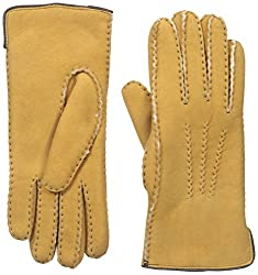 Gloves International Women's Shearling Gloves, Natural, X-Large