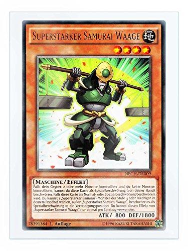 NECH-DE009 Superstarker Samurai Waage 1. Auflage im Set mit original Gwindi Kartenschutzhülle