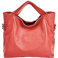 PASTE Women's Wrist Genuine Leather Totes/Shoulder Bag,Handbag Watermelon Red