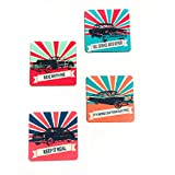 The Crazy Me Vintage Car Collection Coasters Set