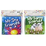 Set of TWO Soft Bath Books Baby/Toddl...