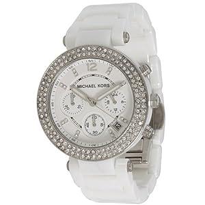 Michael Kors Women's 'Parker' White Chronograph Watch - MK5654