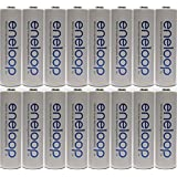 Newest version Panasonic Eneloop 4rd generation 16 Pack AA NiMH Pre-Charged Rechargeable Batteries -FREE BATTERY HOLDER- Rechargeable 2100 times