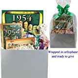 60th Birthday Gift Basket - Live Your Life - with 1954 Retro Items