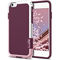 LoHi LH96-67 3-Color Raised Lip Protection TPU/PC Hybrid Shockproof Anti-Slip Rugged Case for iPhone 6/6s