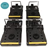 Rat Traps, Set of 4, Best Humane Kill - Rodent Snap Trap That Work,