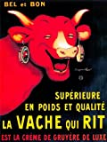 ADVERTISING FOOD DAIRY CHEESE COW HORN GRUYERE FRANCE 30x40 cms ART POSTER PRINT PICTURE CC6206