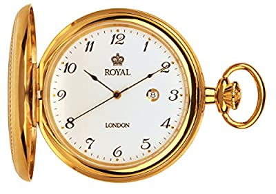 Royal London Pocket Watch 90000-02 Gold Plated Full Hunter