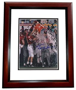 Tom Osborne Autographed Hand Signed Nebraska Cornhuskers 8x10 Photo - MAHOGANY CUSTOM... by Real Deal Memorabilia