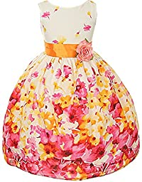 Floral Spring Easter Flower Girl Dress in Fuchsia - 6