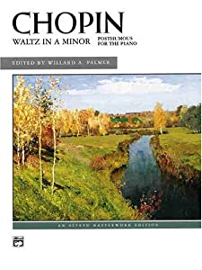 Waltz In A Minor Posthumous For The Piano Sheet Alfred Masterwork Editions from Alfred Publishing Co., Inc.