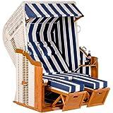 Dreams4Home Gartenstrandkorb 'Mika', 125x160x90 cm, in weiß,Strandkorb