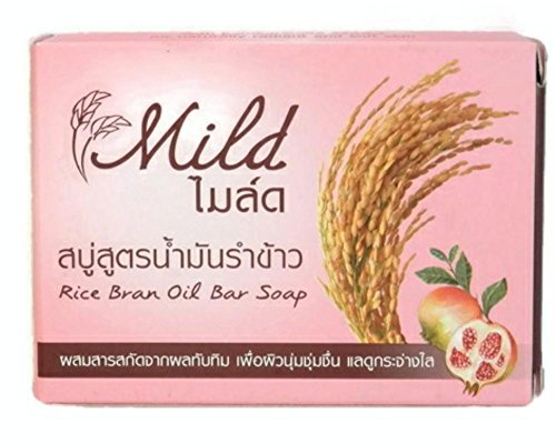 Mild Rice Bran Oil Bar Soap Mild and Brightening for All Skin Types Net Weight 100 G. - 1