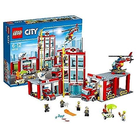 LEGO - 60110 - City - Jeu de construction  - La Caserne des Pompiers