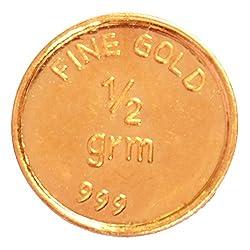 A.Himanshu 0.5 gm, 24k (999) Yellow Gold Precious Coin